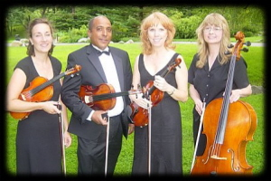 Wedding Music Quartet Photo at Brooklyn Botanical Gardens